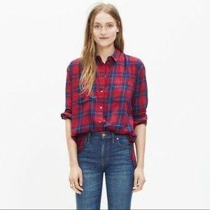 Madewell Edina Plaid Oversized Boy Shirt